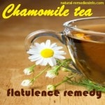 Flatulence natural remedies: chamomile tea