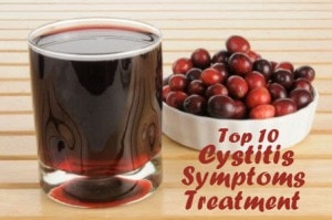 fresh cranberry juice for cystitis symptoms treatment