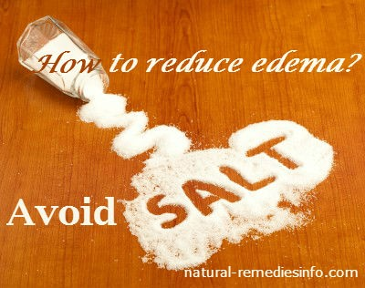avoid salt to lessen edema